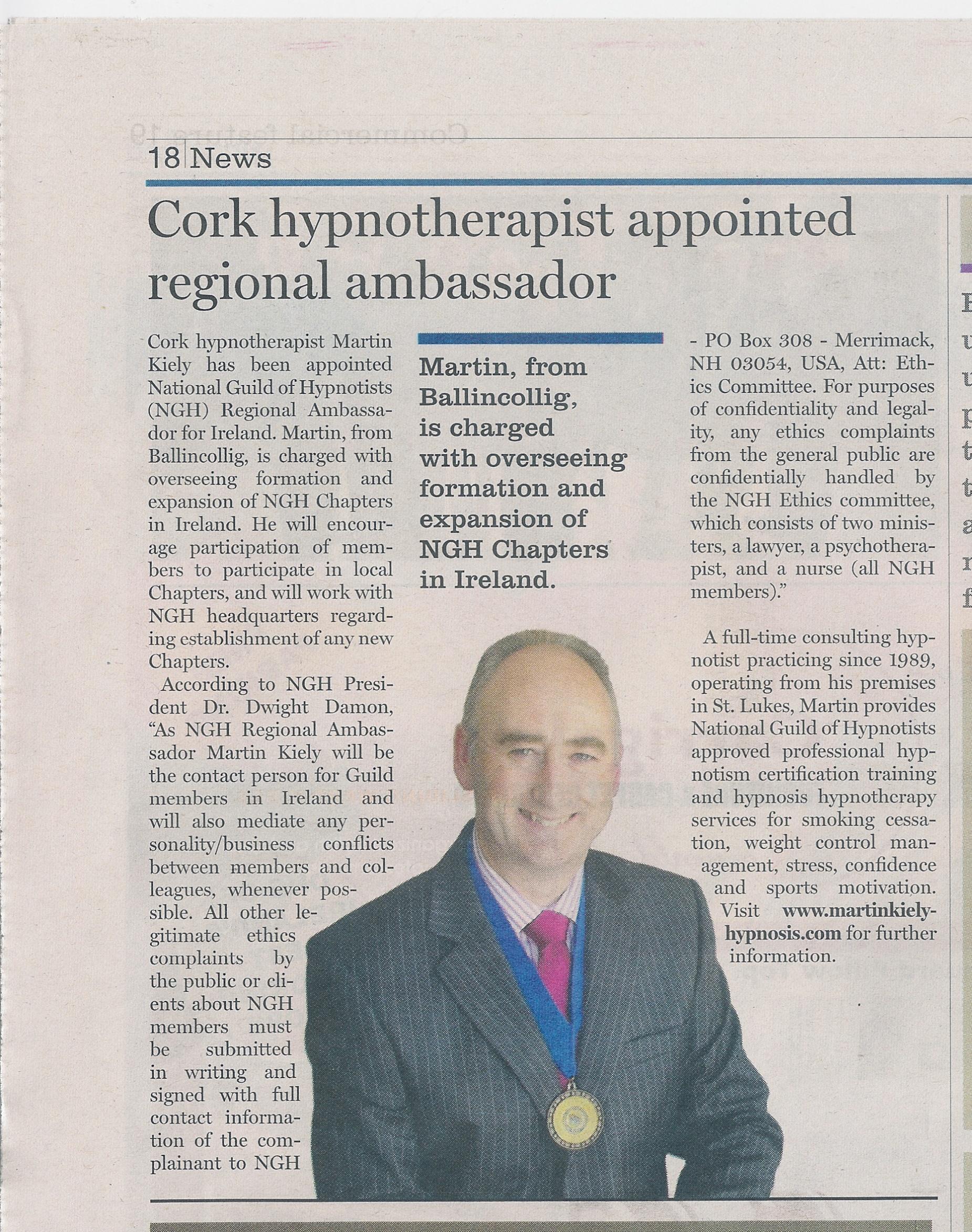 World Hypnotism Day Jan 4th Ireland
